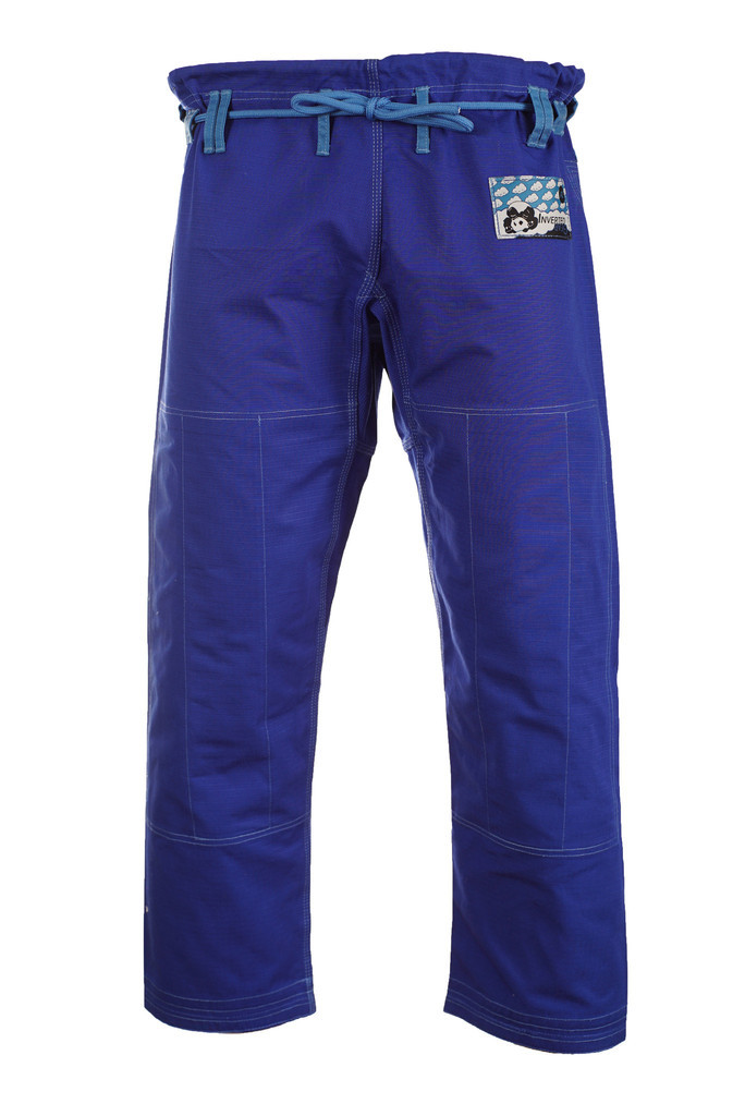 Pants of the Inverted Gear Blue Light PEarl Weave Skies gi.  Available with free shipping from The Jiu Jitsu Shop.