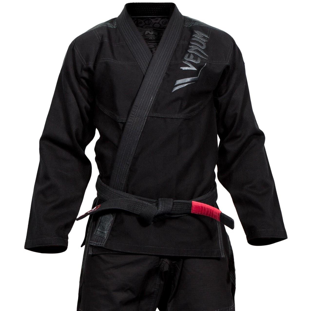 Venum Elite Bjj Gi Black On Black The Jiu Jitsu Shop