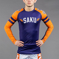 Scramble x Sakuraba longsleeve rashguard.  Available at www.thejiujitsushop.com  Enjoy Free Shipping from The Jiu Jitsu Shop today!