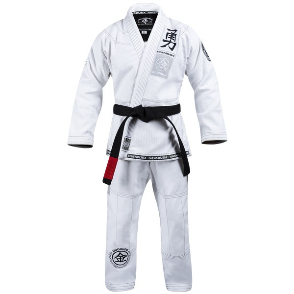 Hayabusa Goorudo 3.0 Gold Weave Jiu Jitsu Gi (White) available at www.thejiujitsushop.com  Enjoy Free Shipping from The Jiu Jitsu Shop