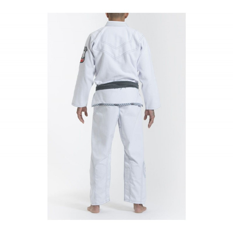 Back of the Grips athletics Cali 99 Gi White gi.  Available at www.thejiujitsushop.com  Enjoy free shipping from The Jiu Jitsu Shop today!