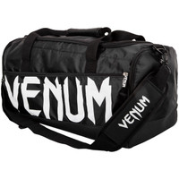 Venum Sparring Sports Bag  in Black on White available at www.thejiujitsushop.com  Enjoy Free Shipping from The Jiu Jitsu Shop