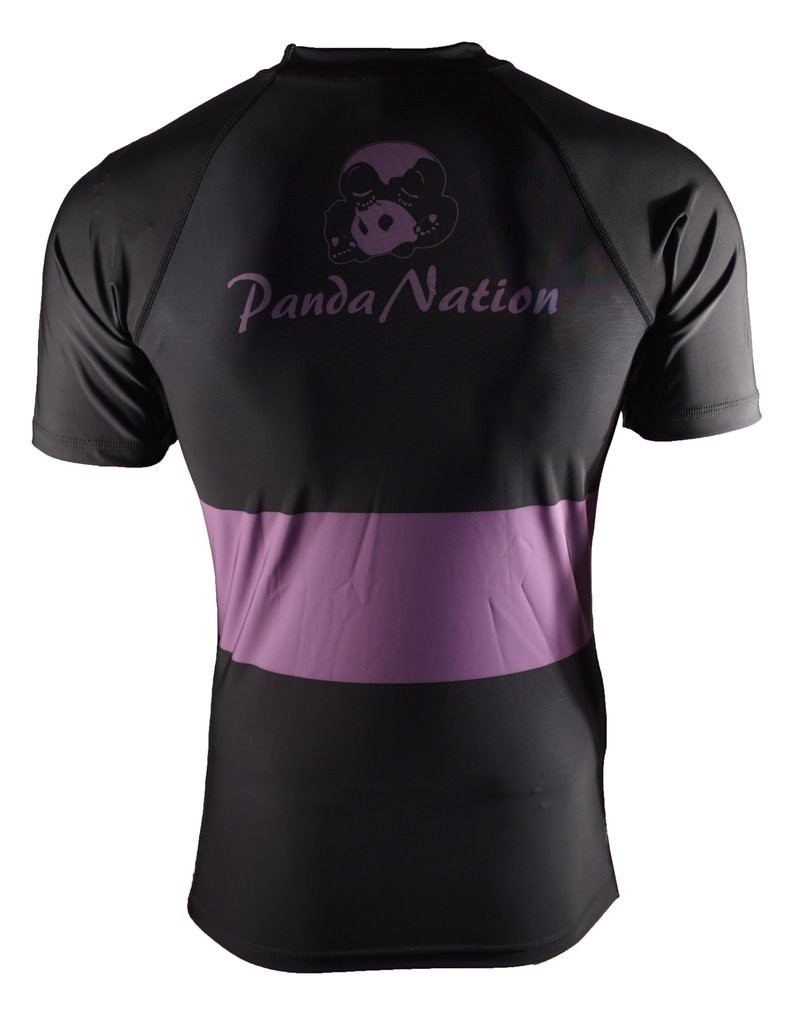 Back of the Purple Inverted Gear Short Sleeve Ranked Rashguard available at www.thejiujitsushop.com  Free Shipping from The Jiu Jitsu Shop today!