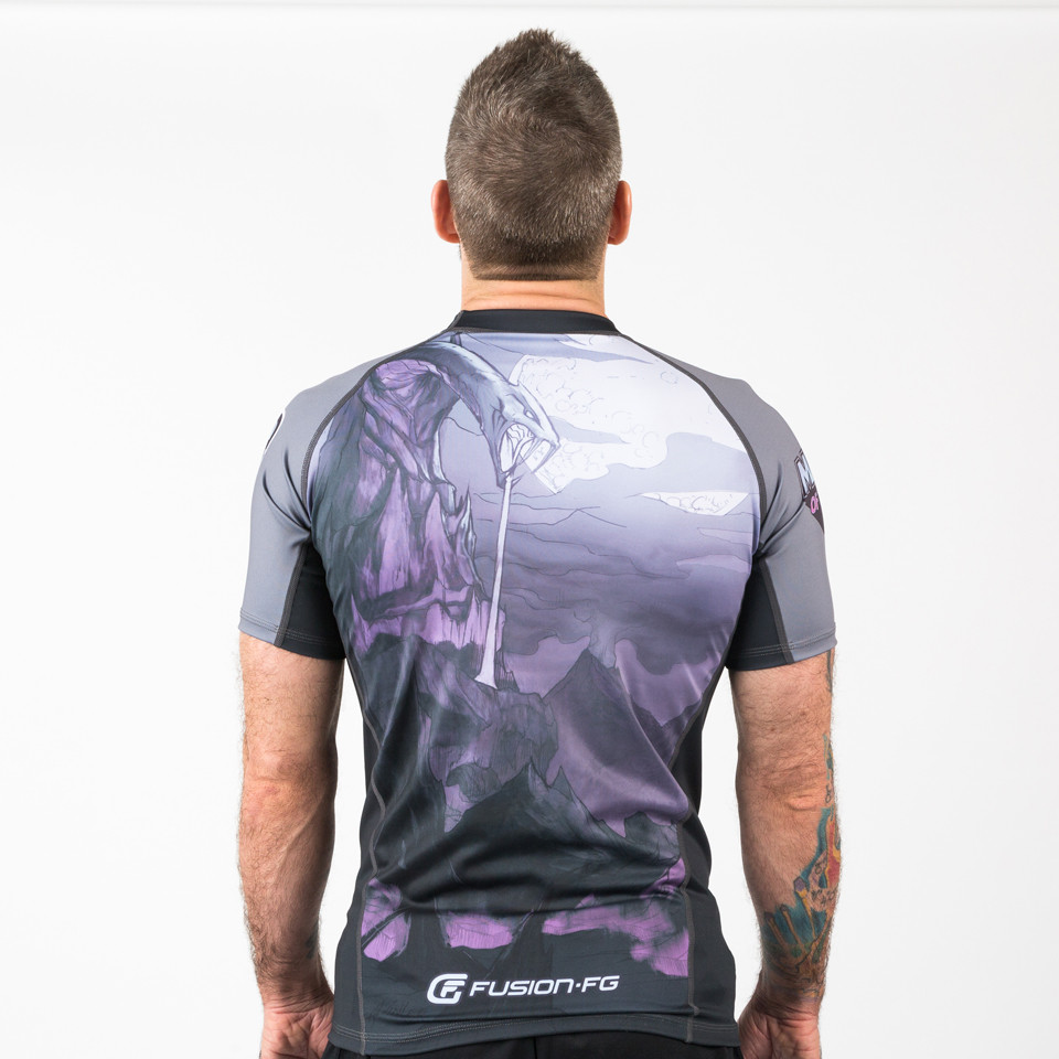 Back of the Fusion FG Master of the Universe Skeletor Short Sleeve Rashguard.  Enjoy free Shipping from www.thejiujitsushop.com  Fast Free Shipping from The Jiu Jitsu Shop today!