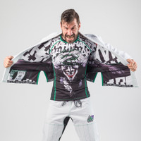 Opening the Gi Fusion FG Batman Killing Joke Gi (White Joker Gi) now available at www.thejiujitsushop.com  Enjoy Free Shipping from The Jiu Jitsu Shop.