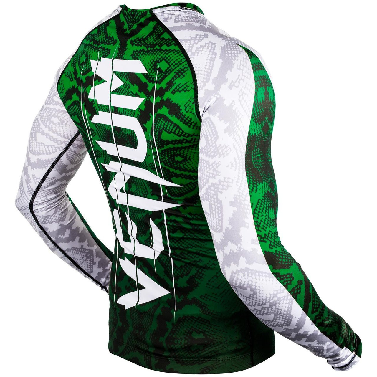 Back of green Venum Amazonia 5 Rashguard Longsleeve (Green) available at www.thejiujitsushop.com  Enjoy Free Shipping from The Jiu Jitsu Shop today!