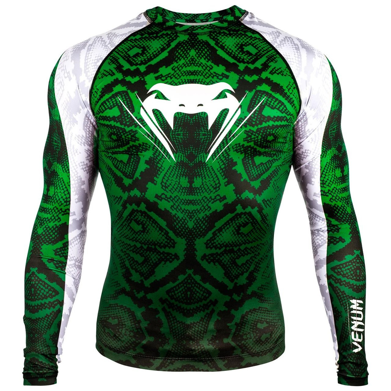 Venum Amazonia 5 Rashguard Longsleeve (Green) available at www.thejiujitsushop.com  Enjoy Free Shipping from The Jiu Jitsu Shop today!