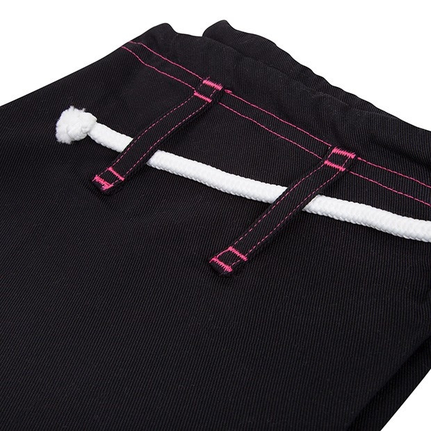 Venum Challenger 2.0 Women's Black and Pink Jiu Jitsu Gi pants@ www.thejiujitsushop.com
