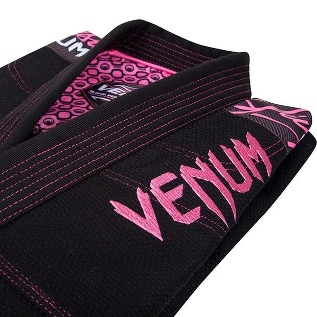 Venum Challenger 2.0 Women's Black and Pink Jiu Jitsu Gi jacket top zoom @ www.thejiujitsushop.com