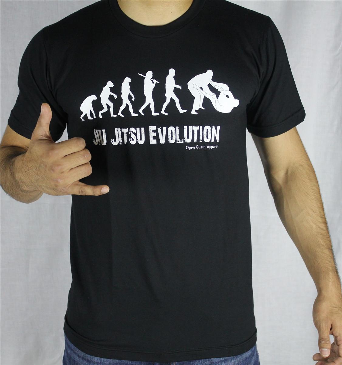 Jiu Jitsu Evolution Tshirt Open Guard Apparel
