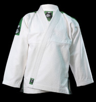 Inverted Gear Panda Gold Weave White Gi  @ www.thejiujitsushop.com