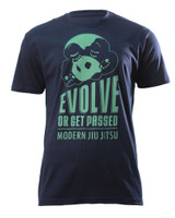 Inverted Gear Evolve Or Get Passed T-Shirt now available at www.thejiujitsushop.com Evolve your game with this navy T-shirt  Enjoy Free Shipping at The Jiu Jitsu Shop Today!