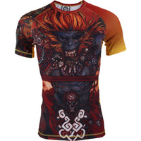 Gawakoto x Terada Monkey King Rashguard Orange @ The Jiu Jitsu Shop