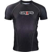 Grips Athletics Wasp Black Honeycomb Rashguard @ The Jiu Jitsu Shop