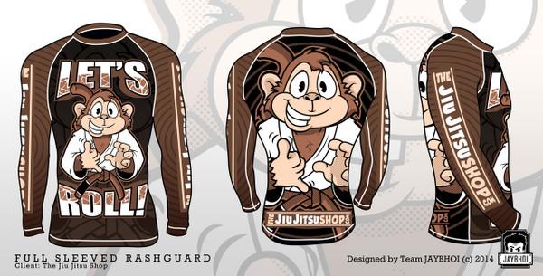 The Jiu Jitsu Shop Let's Roll Long Sleeve Rashguard @ www.thejiujitsushop.com | Top Jiu Jitsu Gear shop