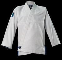 Inverted Gear White Light Pearl Weave Gi - The Jiu Jitsu Shop @ www.thejiujitsushop.com   White light gi with a 350GSM Jacket top white and teal gi