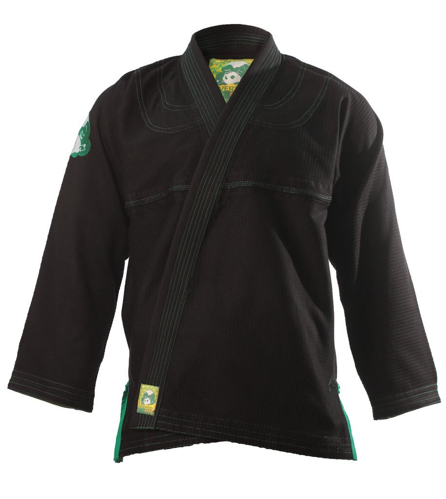 inverted gear black gold weave panda gi the jiu jitsu shop