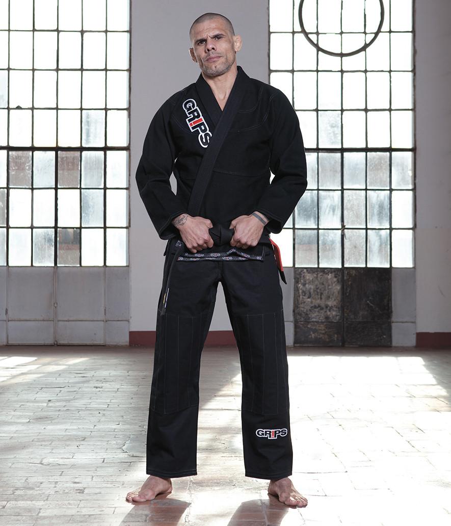 Grips Primero 3.0 Black Gi front at www.thejiujitsushop.com The Jiu Jitsu Shop for all your jiu jitsu needs.