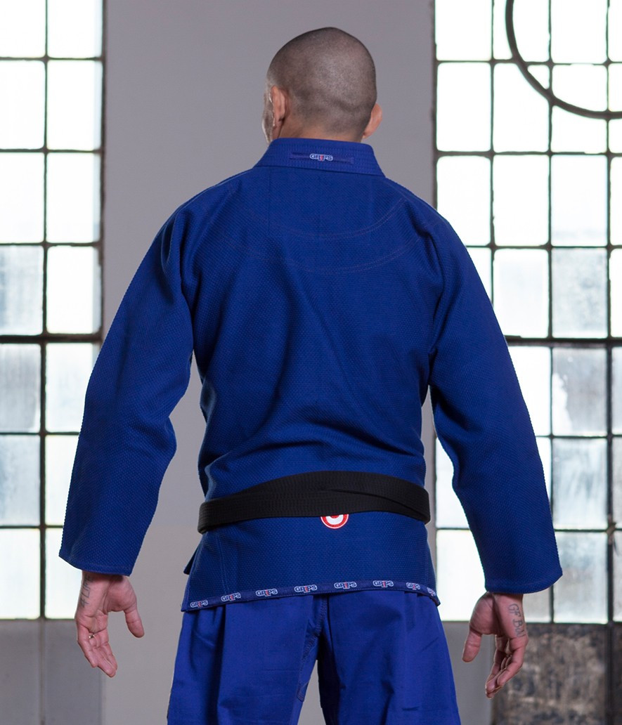 Grips Primero 3.0 Blue gi back of Gi at www.thejiujitsushop.com The Jiu Jitsu Shop for all your jiu jitsu needs.