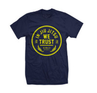 Newaza Apparel's In Jiu Jitsu We Trust (Gold on Navy)