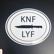 Oval KNF LYF Sticker