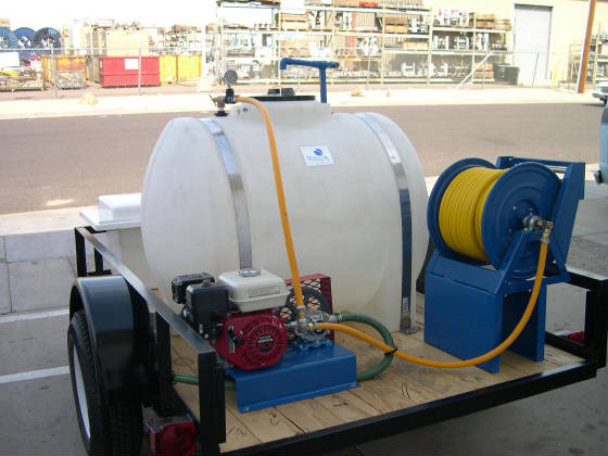 225 Gallon Weed Spray Trailer - Roller Pump