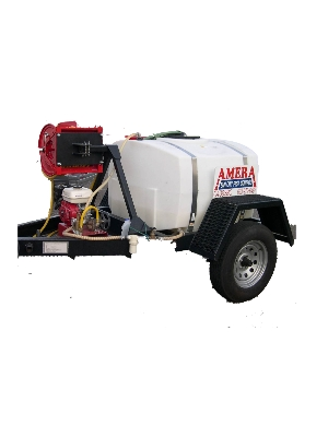300 Gallon Weed Spray Trailer - Reel Swivels to both sides