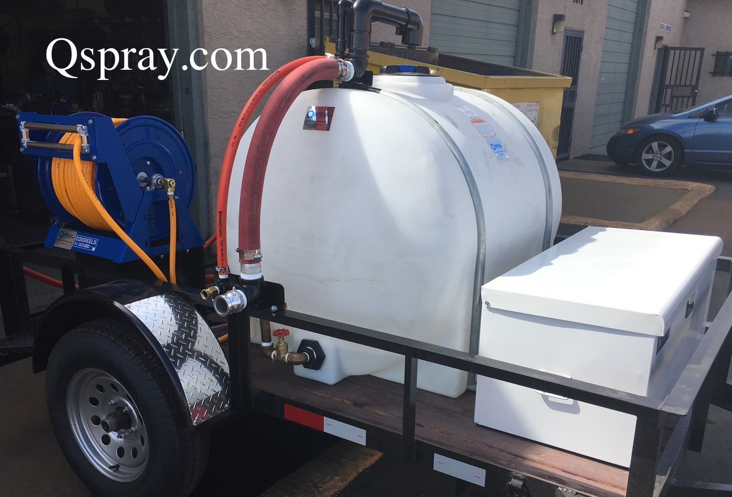200 gallon weed control spray trailer