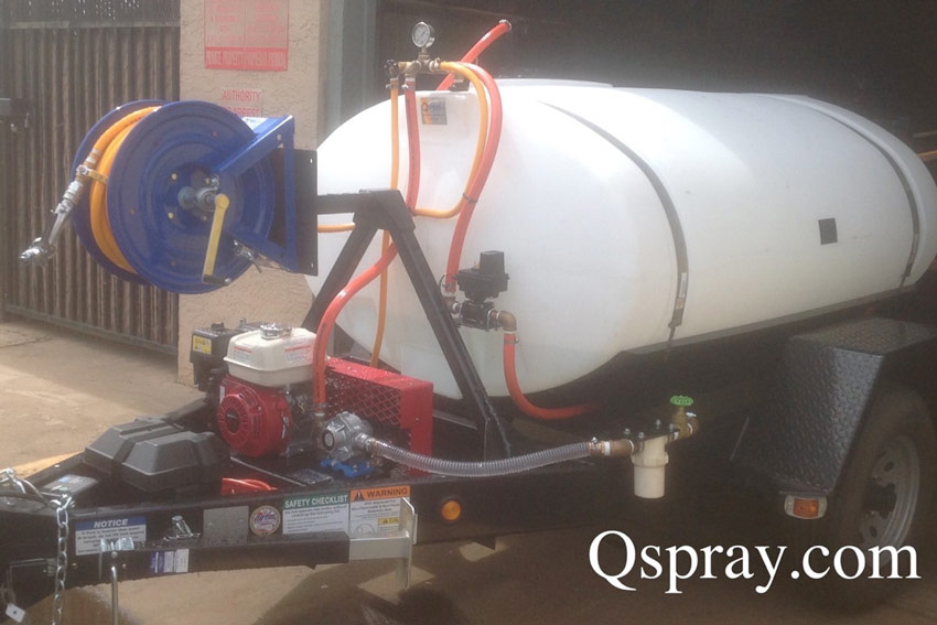 weed control power spray trailer