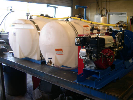 Dual 125 Gallon Skid Sprayers