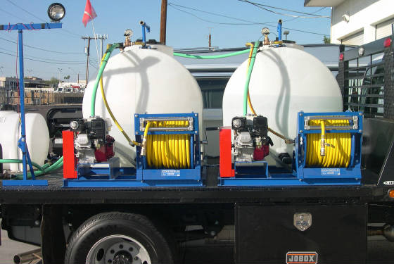 Truck Mount Sprayer with 3 tanks, pumps/motors, reels