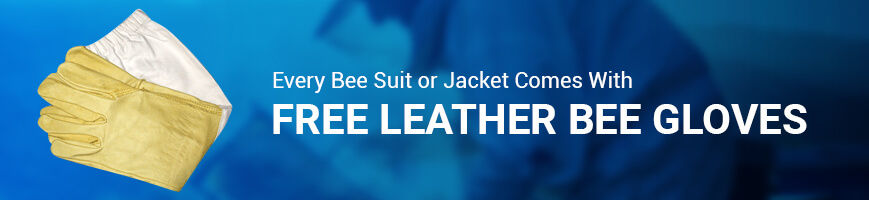 free bee gloves with bee suit