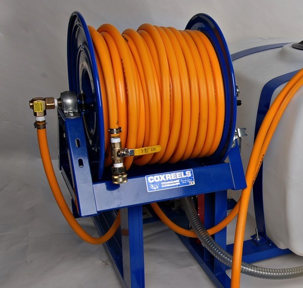 pest control spray rig hose reel