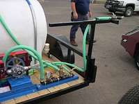 jsw weed spray trailer boomless nozzles