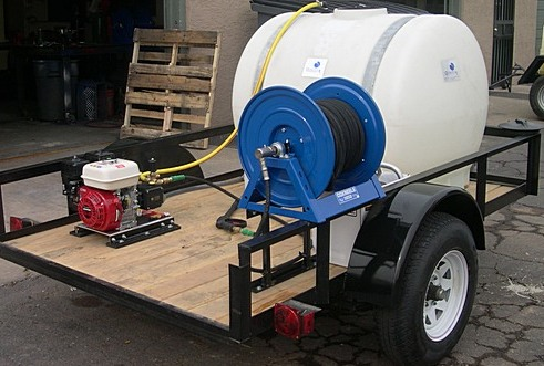 Mobile Detail Trailer With 225 Gallon Water Tank