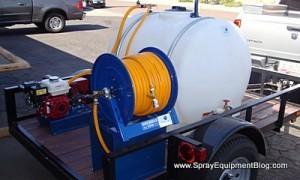 component mount trailer sprayer