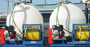 dual tank dual pump power sprayer