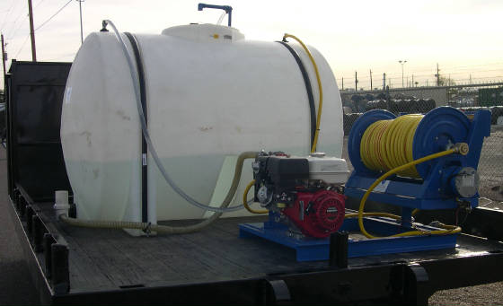 Spray Skid - Pump, Motor, Reel only  Tank is separate.