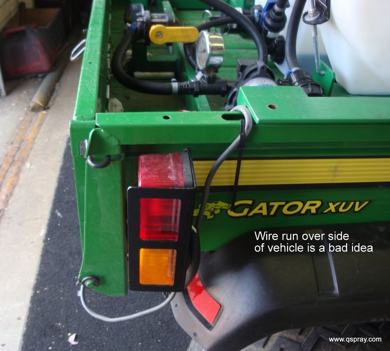 Sprayer in gator