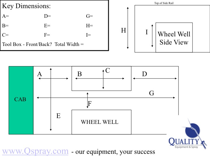 Truck Bed Dimensions Worksheet
