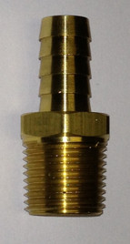 Brass Hose Barb (hose barb x male pipe thread)