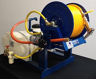25 gallon 12 volt sprayer for 12 volt hose reel motor