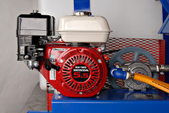 We only use Commercial Grade (GX Series) Honda engines.  If it's not a Honda, don't buy it!
