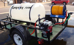 200 Gallon weed spray trailer