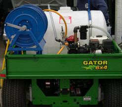 65 Gallon Weed Sprayer in John Deere Gator ATV