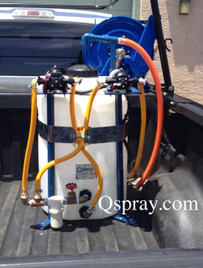 25 Gallon space saving pest control sprayer
