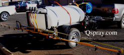 300 Gallon Weed Spray Trailer with Folding Boom