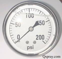 Pressure Gauge 200 PSI - Liquid Filled (Hypro 2640-0011)