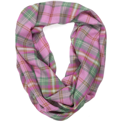 Kames Check Fine Wool Infinity Scarve