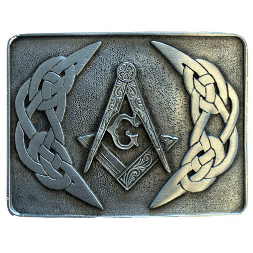 Masonic Belt Buckle Pewter